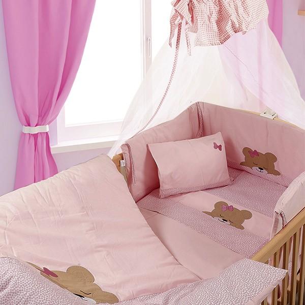 ΣΕΤ ΠΡΟΙΚΑΣ ΜΩΡΟΥ 7 Τεμ. Dim Collection  – Sleeping Bears Cub ΡΟΖ