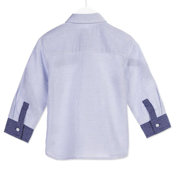 ΠΟΥΚΑΜΙΣΟ LOSAN Chic Collection - Jacquard Cotton Shirt With Plain Fabric Cuffs