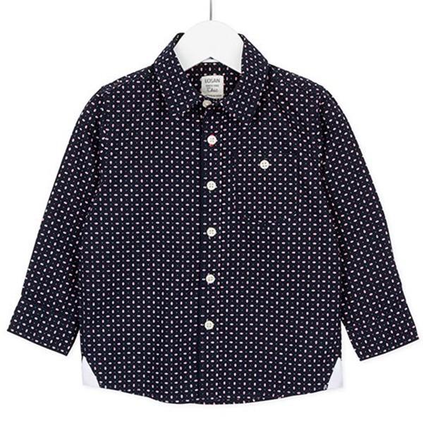 ΠΟΥΚΑΜΙΣΟ LOSAN ΠΑΙΔΙΚΟ - Long Sleeve Shirt In All Over Print Popl