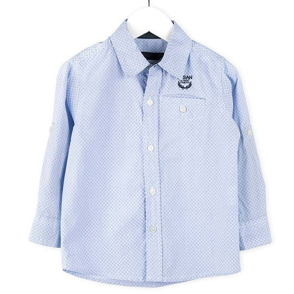 ΠΟΥΚΑΜΙΣΟ LOSAN ΠΑΙΔΙΚΟ - Embroidered Stripe Long Sleeve Shirt