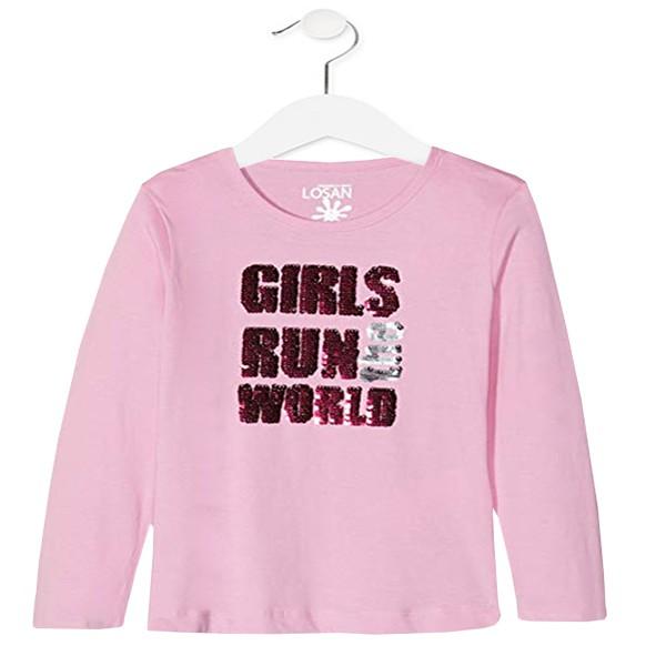 ΜΠΛΟΥΖΑ LOSAN MAKO ΜΑΚΡΥΜΑΝΙΚΗ  Kids – Girls Run The World