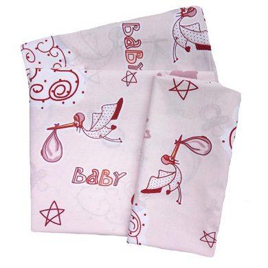 ΣΕΤ ΣΕΝΤΟΝΙ ΚΟΥΝΙΑΣ ΒΡΕΦΙΚΟ 3 ΤΕΜ Dim Collection ΜΕ ΤΥΠΩΜΑ - Stork Pink