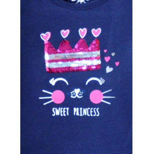 ΜΠΛΟΥΖΑ LOSAN Kids ΜΑΚΟ ΜΑΚΡΥΜΑΝΙΚΗ ΜΕ ΠΑΓΙΕΤΑ - Sweet Princess
