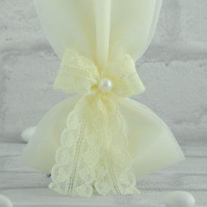 Μπομπονιέρα Γάμου με Τούλι κα Δαντέλα MPO202
