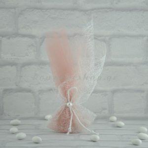 Μπομπονιέρα Γάμου με Τούλι Λέζα και Πέρλα MPO302